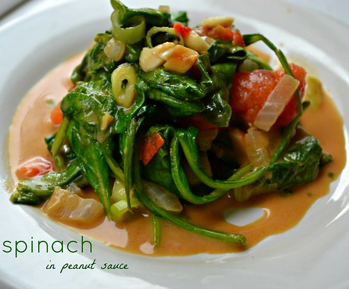 spinach in peanut sauce