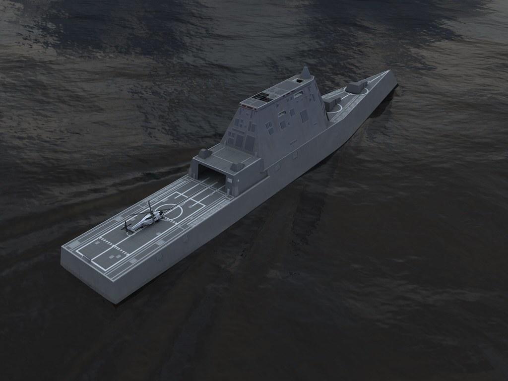 USS Zumwalt Stern