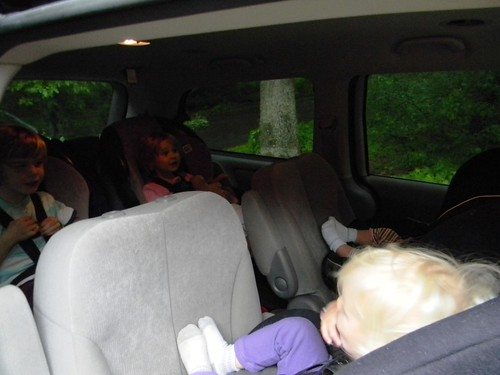 four kids in our car