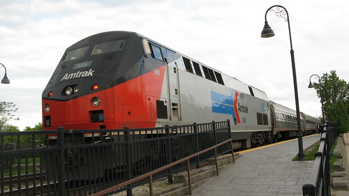 Amtrak 40th anniversary locomotive # 156.  Glenview Illinois USA. Tuesday, May 8th, 2012. by Eddie from Chicago