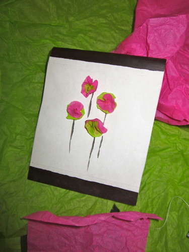 Tissue Flower Mother's Day Card - Finished Product