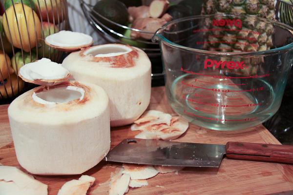 Making raw coconut yoghurt