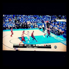 finally! on a channel we can get with our ol' rabbit ears!! haha. #nbafinals #okcthunder