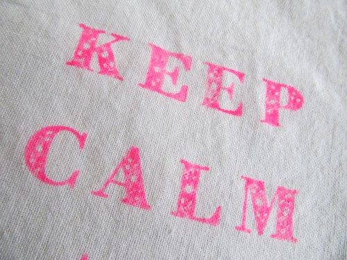 Keep Calm Close Up