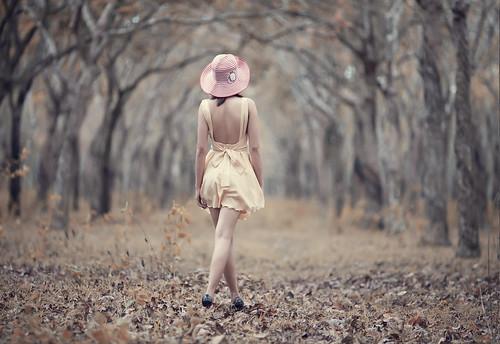 無料写真素材, 人物, 女性  アジア, 人物  後ろ姿, 人物  樹木, 帽子