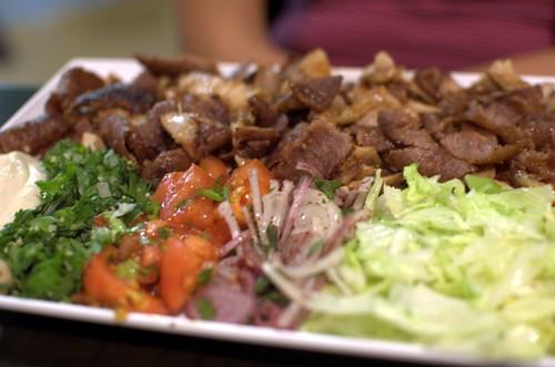 Mix kebab plate