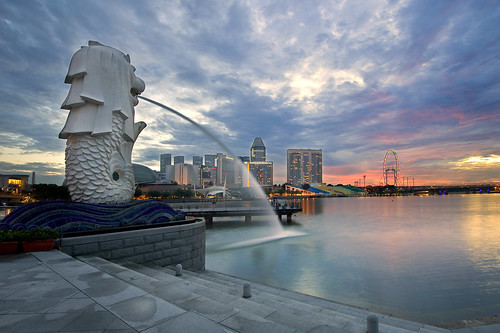 Dawn at Merlion Park
