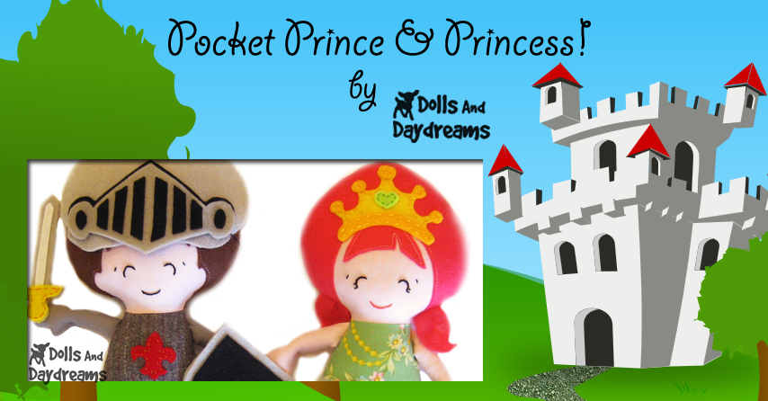 Pocket Princess Prince Sewing Pattern 2 by Dolls And Daydreams