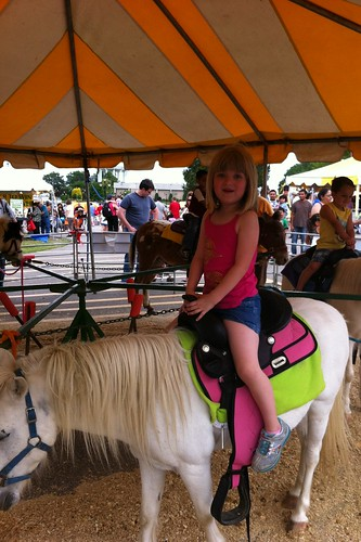 Catie on a pony ride