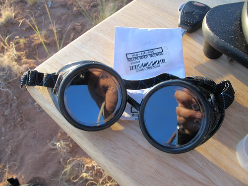Canyon de Chelly National Monument: Welding goggles with number 14 lenses