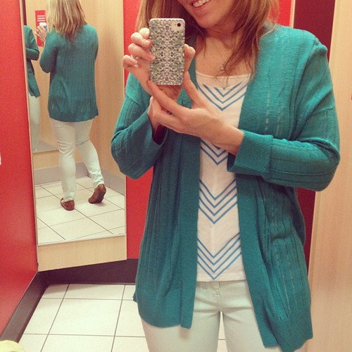 I passed, but finally found a pair if mint jeans in my size . . . And I likes them! #toocheap2btrendy