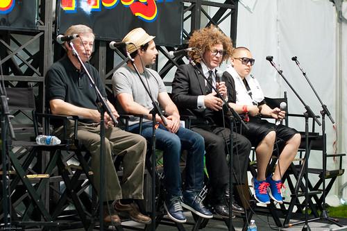 Allan Benton, Jon Mayers, Ben Jaffe, and Eddie Huang