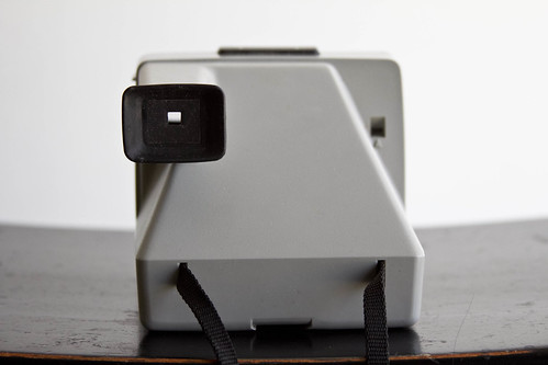 Back view of Polaroid camera