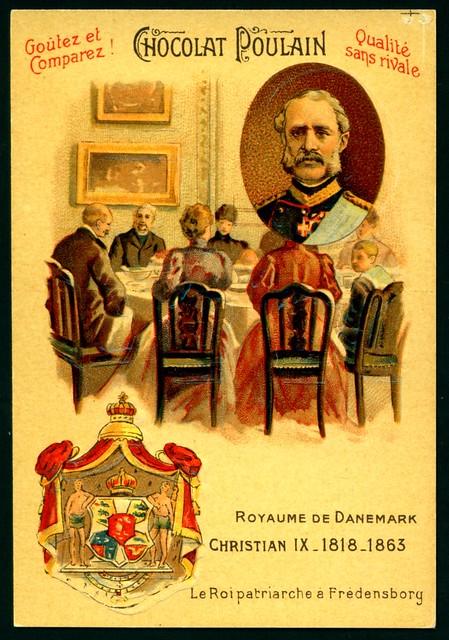 French Tradecard - Christian IX, King of Denmark