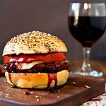 Red Wine Burgers on Everything Buns