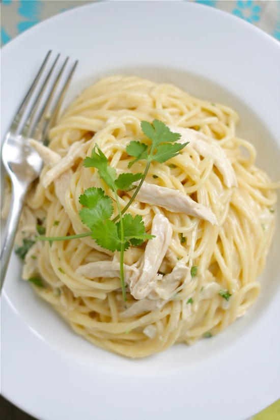 Tex-Mex Chicken White Cheddar Spaghetti 1