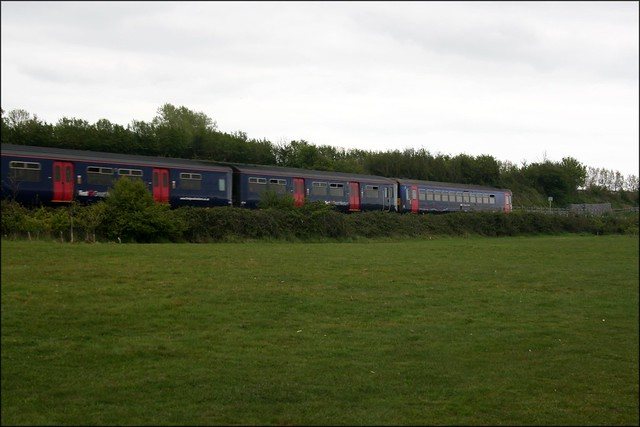 A train on the Exeter to Exmouth line