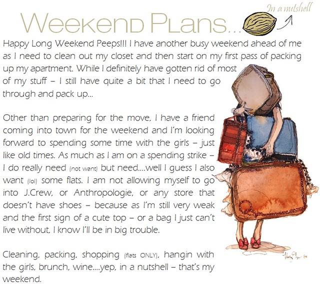 weekend plans 5.25.12