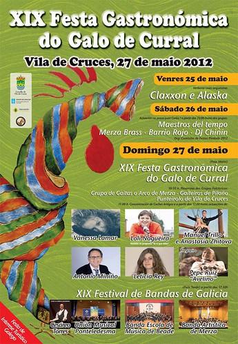 Vila de Cruces 2012 - XIX Festa Gastronómica do Galo de Curral - cartel