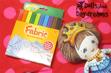 Princess Crown Doll Hand Painted Fabric Markers Crayola
