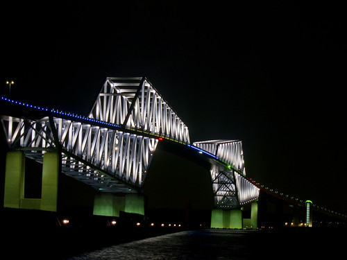 Olympic-colored Tokyo Gate Bridge