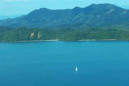Sailing boat and blue seas, Phuket