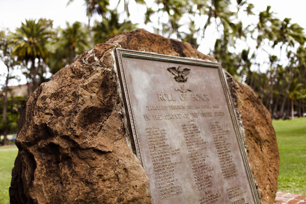 waikiki war memorial roll of honor