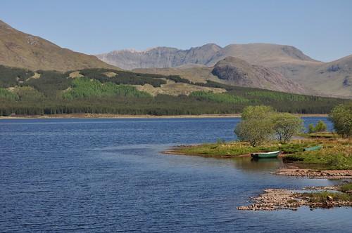 Distant Ben More Assynt across Loch Ailsh