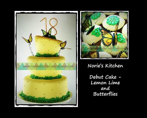 Norie's Kitchen - Lemon Lime and Butterflies Debut Cake by Norie's Kitchen