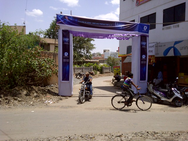 Welcome Arch at Keshav Chowk - Keshav Nagar - Malwadi Hadapsar  - Visit Livogue - 1 BHK, 1.5 BHK & 2 BHK Flats at Malwadi Hadapsar, Pune 411028
