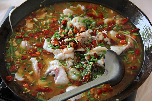 Shuizhuyu - Massively flavorful fish pot!