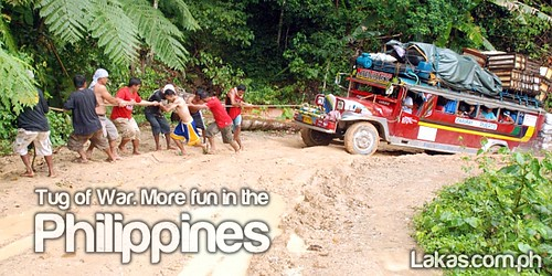 Tug of War. More fun in the Philippines