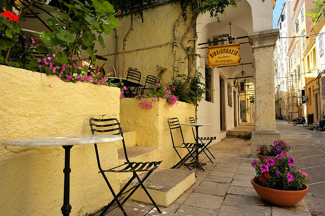 Charming little cafe in Kerkyra