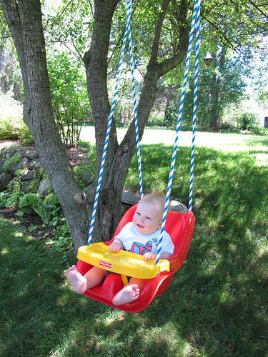 First ride in the swing!