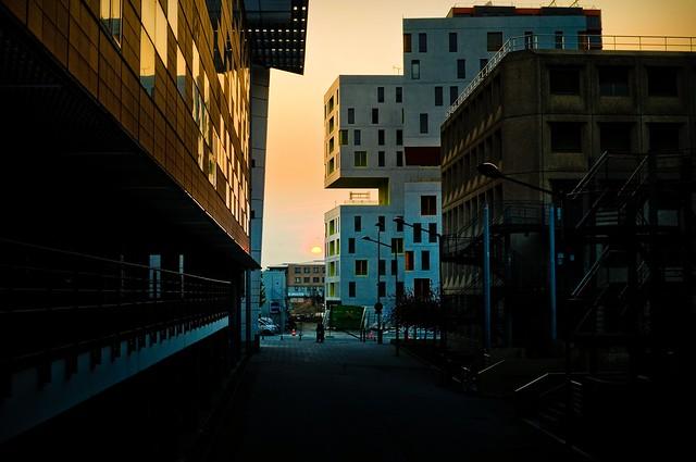 Evry Daily Photo - Coucher de soleil dans Evry Centre
