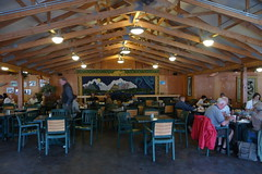 Alaska Salmon Bake - Dining room (away from mosquitoes)
