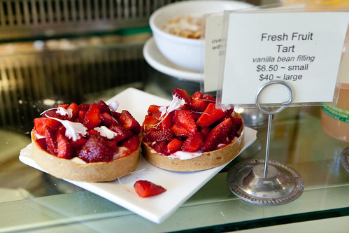 Fresh strawberry fruit tart