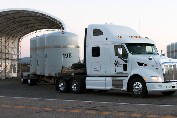 Los Alamos sent the first shipment to Waste Control Specialists on April 1.