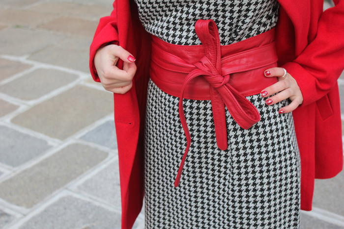 houndstooth, streetstyle, dress, pata de gallo, vestido