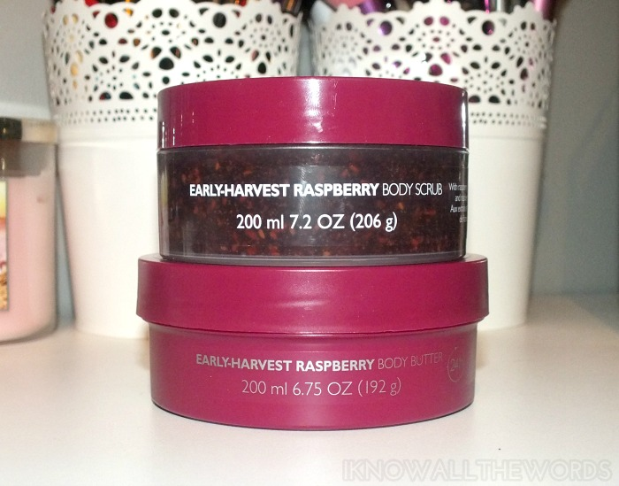 The Body Shop Early-Harvest Raspberry  Body Butter and Body Scrub (2)