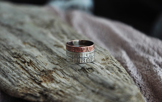 ukrainian copper and silver rings