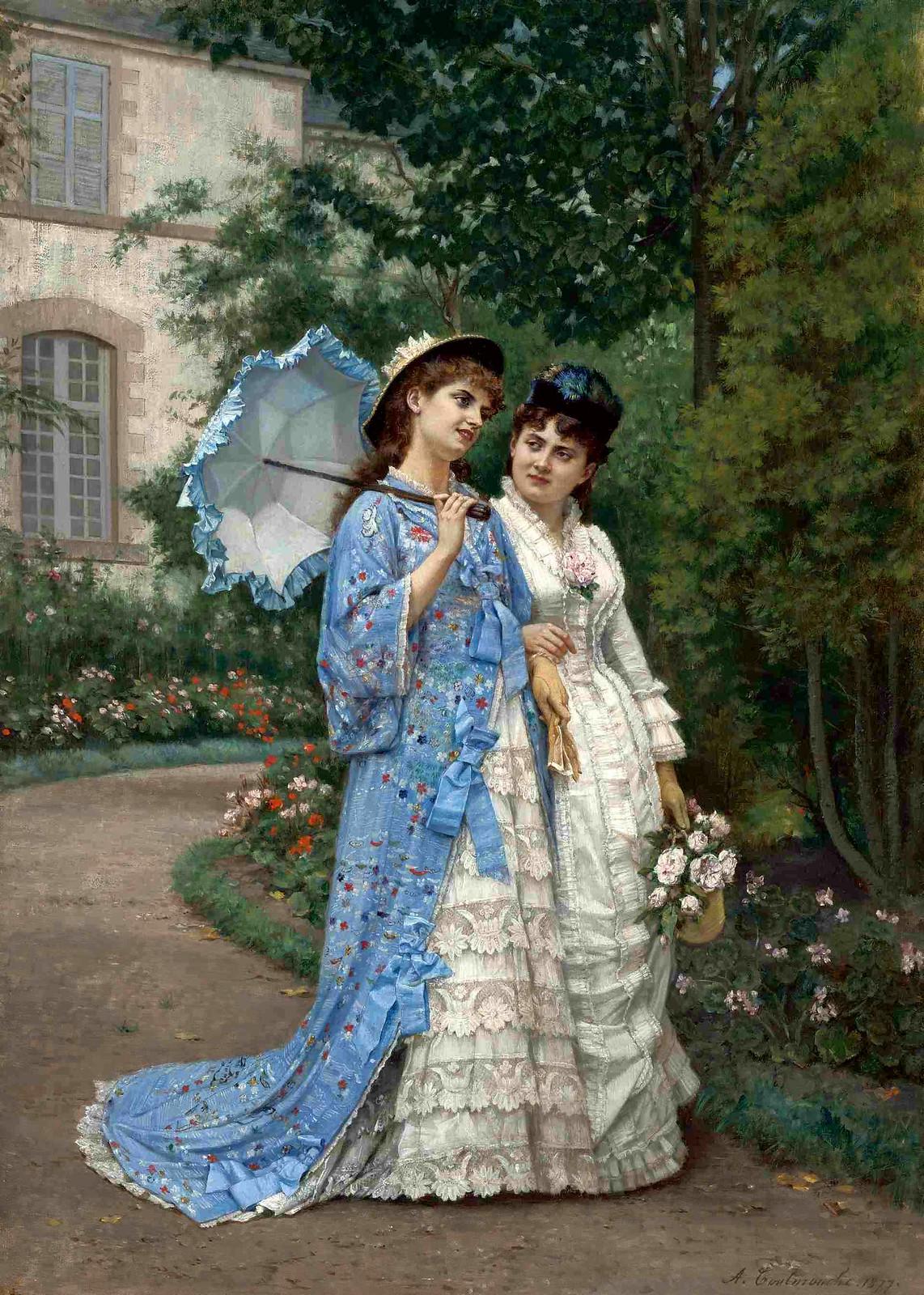 A Garden Stroll by Auguste Toulmuche, 1877