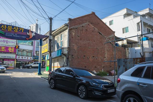 Colonial brick wall, Mokpo, South Korea