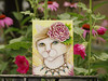 Fairy Cat Painting and Flowers