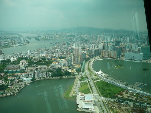 The view of Macau from the Macau Tower