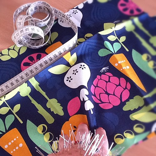I'm working on the VEGGIES bag #handmade #veg