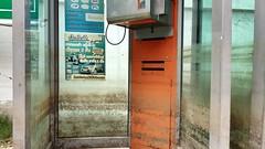 Flood level on phone booth, Bangkok