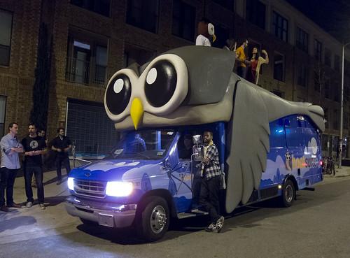 HootSuite Owl Van