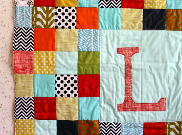 patchwork and appliqued L