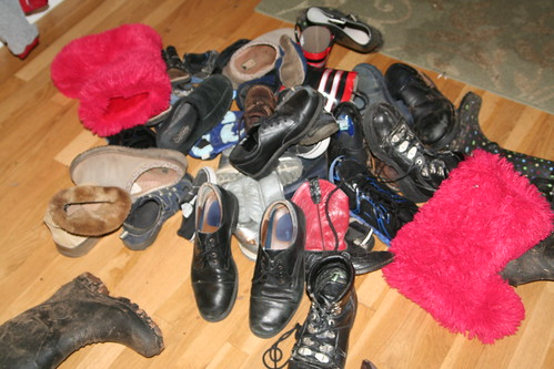Leprechaun Trick: Huge Pile of Shoes!